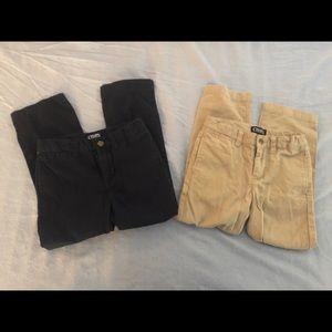 Chaps uniform pants size 5 khaki and navy blue